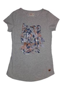 CKS T-Shirt HADICE grey/gold