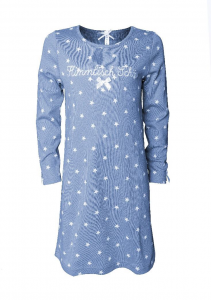 Louis & Louisa Mädchen Nachthemd HIMMLISCH SCHÖN grau Sterne weiß 104 - 110