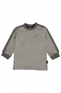 Hust & Claire Langarm-Shirt Streifen wool grey