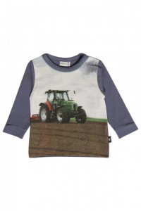 Hust & Claire Langarm-Shirt/Longsleeve Traktor metal blue