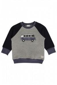 Hust & Claire gestepptes Sweatshirt Bus grey melange