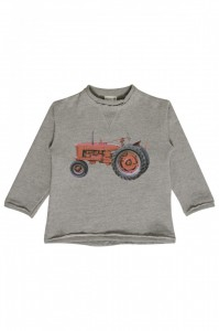 Hust & Claire Sweatshirt Traktor grey melange