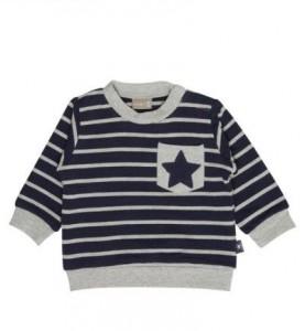 Hust & Claire Sweat-Shirt Streifen navy/grau
