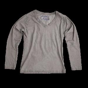 Vingino/LA SELZIONE DI GINO Langarm-Shirt/Longsleeve JENNIFER grau mele