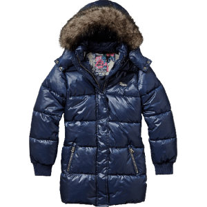 Vingino Winter Long-Jacke / Mantel mit Kapuze TOSSANE dark navy