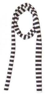 Kiezel-tje Schal Streifen grau-weiss