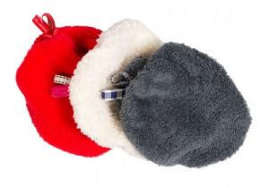 Kiezel-tje Plüsch- Mütze grey