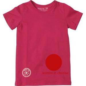 Kiezel-tje Basic-T-Shirt cerise mit Print