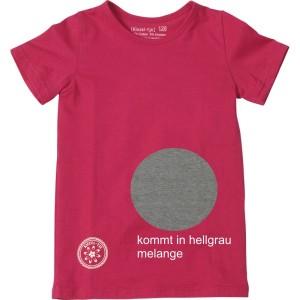 Kiezel-tje Basic-T-Shirt grau melange mit Print
