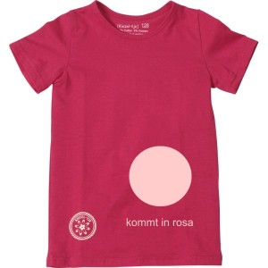 Kiezel-tje Basic-T-Shirt rosa mit Print