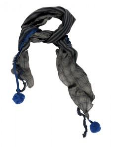 Kiezel-tje Schal Karo blau
