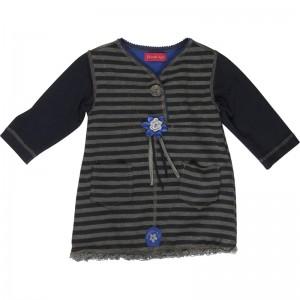 Kiezel-tje Kleid Streifen navy-grau