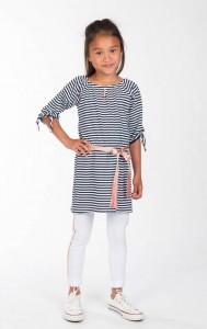KIE stone 3/4-Arm-Kleid Streifen navy weiß