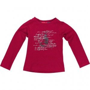 Kiezel-tje Langarm-Shirt/Longsleeve Print Dot pink