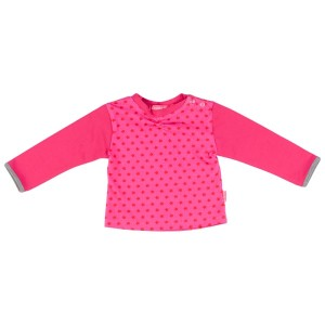 Kiezel-tje Mini Langarm-Shirt/Longsleeve Sterne pink