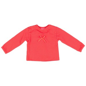 Kiezel-tje Mini Langarm-Shirt/Longsleeve dot orange