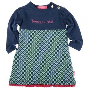 Kiezel-tje Mini Langarm-Kleid Print blue