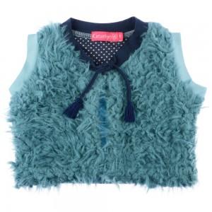 Kiezel-tje Mini Fell/Plüsch-Weste light blue