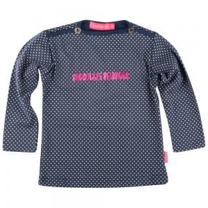 Kiezel-tje Mini Langarm-Shirt/Longsleeve dot blue
