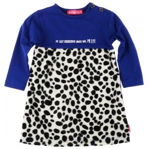 Kiezel-tje Mini Langarm-Kleid Leo blue
