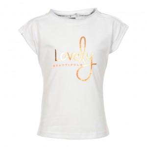 "KIE stone T-Shirt ""Lovely"" white"