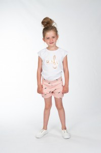 KIE stone Jersey Short bird peach