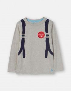 Joules Jungen Langarm-Shirt/Longsleeve ANIMATE Rucksack grau blau