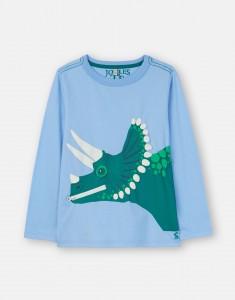 Joules Jungen Langarm-Shirt/Longsleeve ZIPADEE Dino-Applikation