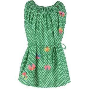 Mim-Pi Kleid Punkte grün-weiß