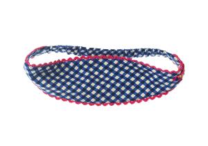 Mim-Pi Haarband karriert blau-weiss