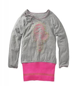 Mim-Pi Kleid Püppchen grau-pink