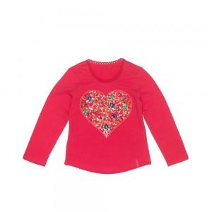 Mim-Pi Langarm-Shirt/Longsleeve Herz pink