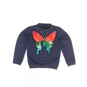 Mim-Pi Langarm-Shirt/Longsleeve/Sweater Schmetterling blau