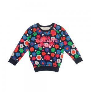 Mim-Pi Sweater/Langarm-Shirt/Sweater große Blüten allover bunt