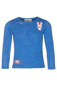 Mim-Pi Langarm-Shirt/Longsleeve jeansblau meliert