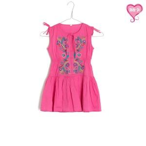 Mim-Pi Tunika / Kleid pink mit Stickerei