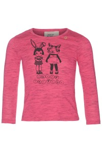 Mim-Pi Langarm-Shirt/Longsleeve Print pink meliert