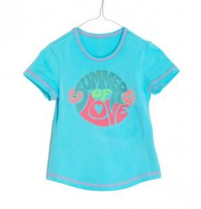 Mim-Pi T-Shirt türkis mit Print