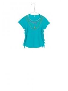 Mim-Pi T-Shirt türkis Fransen
