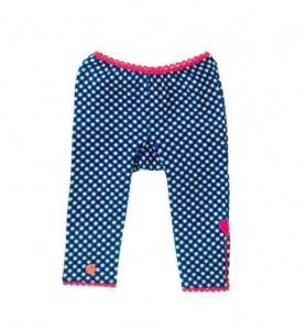 Mim-Pi Baby Legging Karo blau-weiß