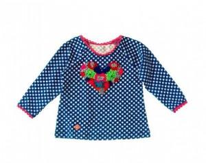 Mim-Pi Baby Langarm-Shirt/Longsleeve Karo blau-weiß