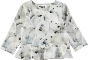Molo Mini Mädchen Langarm-Shirt ELISABETH Polar Bear Jersey