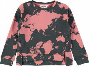 Molo Mädchen Sweat-Shirt/Langarm-Shirt MALISSA World Map