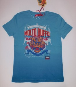 Molto Buffo T-Shirt Tiger-Print blue moon