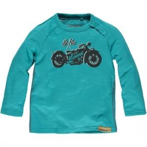Moodstreet Mini Boys Langarm-Shirt/Longsleeve Motorrad bright blue