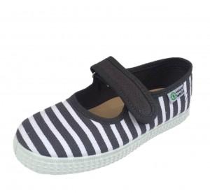 NATURAL WORLD Mädchen Schuhe Streifen grau-weiss