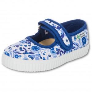 NATURAL WORLD Mädchen Schuhe flowers indigo blau
