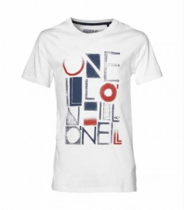 O´Neill T-Shirt Fidler super white Logo-Front-Print
