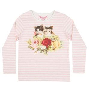 Paper Wings Langarm-Shirt/Longsleeve ROSIE CATS pink multicolor