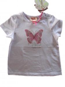 Pezzo D´oro T-Shirt Schmetterling weiß